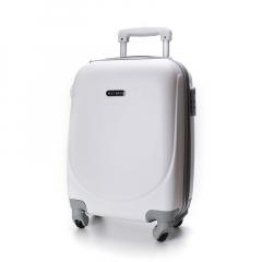 Βαλίτσα τρόλεϊ ματ λευκή
