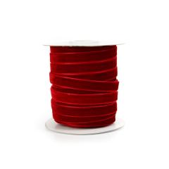Κορδέλα βελούδινη κόκκινη 10mm
