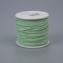 Κορδονάκι ματ λευκό πράσινο 2mmX40m