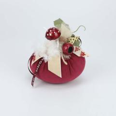 Χριστουγεννιάτικη κολοκύθα βελούδινη με ξύλινο δέντρο