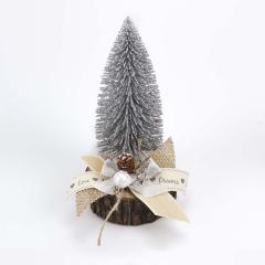 Χριστουγεννιάτικο δεντράκι ξύλινη βάση και μαργαριτάρι