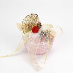Γυάλινη φοντανιέρα αρωματικό κερί ροζ