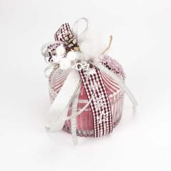 Φοντανιέρα αρωματικό κερί με χριστουγεννιάτικο φιόγκο