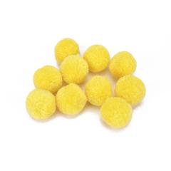 Πον Πον από Κασμίρ κίτρινο 10τμχ