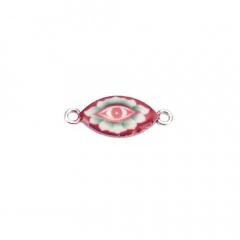Μεταλλικό στοιχείο μάτι επισμαλτωμένο 11x19mm