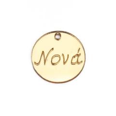 Στρογγυλό πλεξιγκλάς χρυσό Νονά 2εκ5τεμ