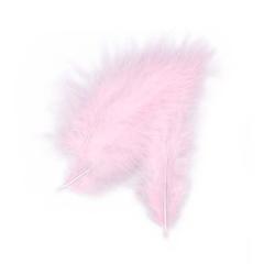 Πούπουλο διακοσμητικό ροζ 13εκ 50τεμ