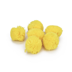 Πον Πον από κασμίρ κίτρινο 30mm 10τεμ