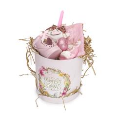Πασχαλινό πακέτο δώρου ροζ με κύκνο
