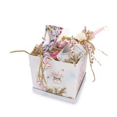 Πασχαλινό πακέτο δώρου σιέλ λαγουδάκι τετράγωνο