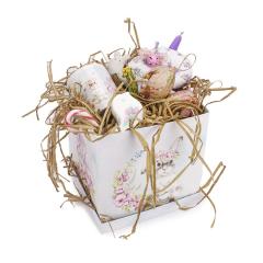 Πασχαλινό πακέτο δώρου κουνελάκι ροζ φλοράλ