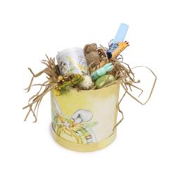 Πασχαλινό πακέτο δώρου κίτρινο Happy Easter