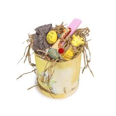 Πασχαλινό κουτί δώρου κίτρινο Happy Easter