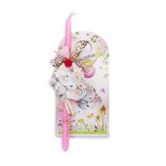 Πασχαλινή λαμπάδα με θέμα ροζ ελεφαντάκι