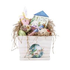 Πασχαλινό κουτί δώρου για νονά γαλάζιο