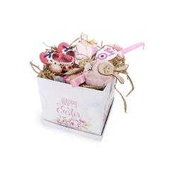 Πασχαλινό κουτί δώρου ροζ με παπουτσάκια