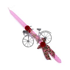 Πασχαλινή λαμπάδα μεταλλικό vintage ποδήλατο