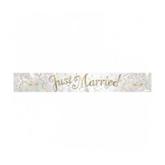Φόιλ φιρλάντα ασιμή Just Married 2.7 μέτρα