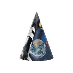 Χάρτινα καπελάκια με θέμα Space Blast 8τεμ
