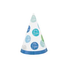 Καπελάκι χάρτινο Blue Dots 1st 8τεμ.