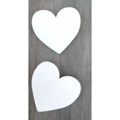 Ξύλινες λευκές καρδιές ευχών minimal