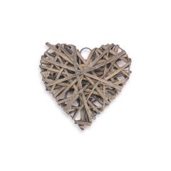 Ξύλινη καρδιά πλεκτή καφέ 10x10εκ