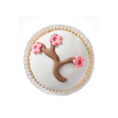 Cupcake αμυγδαλιά λευκό