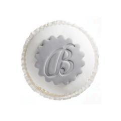Cupcake με μονόγραμμα