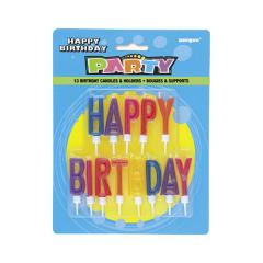 """Κεράκια """"Happy Birtday"""" γράμματα 13τμχ"""