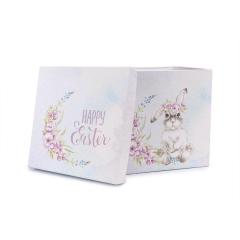 Πασχαλινό κουτί δώρου γαλάζιο με λαγουδάκι