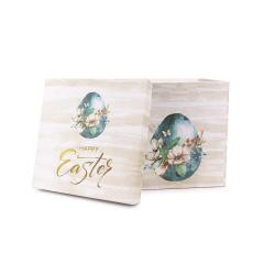 Πασχαλινό κουτί δώρου πετρόλ φλοράλ αυγό