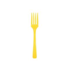 Πιρουνάκια πλαστικά κίτρινα 20τεμ