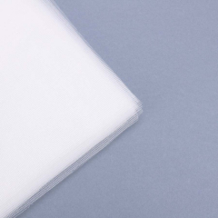 Κομμένο τούλι οργάντζα λευκό 33x33εκ 100τεμ