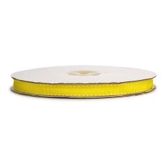 Κορδέλα γκρο διπλη ραφή κίτρινη 10mmX25m