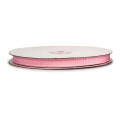 Κορδέλα γκρο διπλη ραφή ροζ 10mmX25m