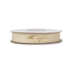 Κορδέλα γκρό χρυσοτυπία με ευχές 15mm 18μ