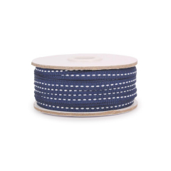 Κορδέλα γκρο μπλε με ραφή 6mmX50μ
