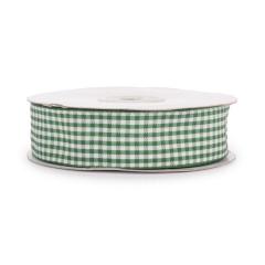 Κορδέλα υφασμάτινη καρό πράσινη 25mmX25μ