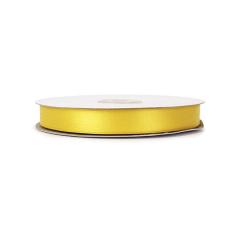 Κορδέλα σατέν διπλής όψης κίτρινη 15mmX50m