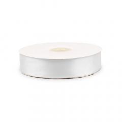 Κορδέλα σατέν διπλής όψης λευκή 25mm 50m