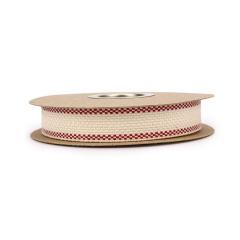 Κορδέλα βαμβακερή ψαθάκι κόκκινη 20mm 10μ