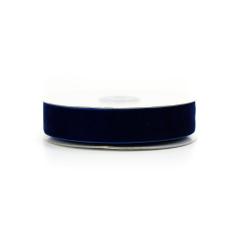 Κορδέλα βελούδινη μπλε ρουά 25mm