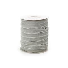 Κορδέλα βελούδινη γκρι 10mm