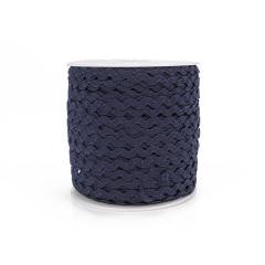 Κορδέλα ζικ ζακ μπλε μαρίν 3mm 91m