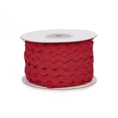 Κορδέλα ζικ ζακ κόκκινη 5mm 45m