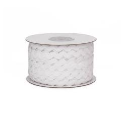Κορδέλα ζικ ζακ λευκή  5mm 45m
