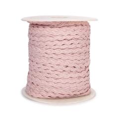 Κορδέλα ζικ ζακ ροζ 3mm 91m