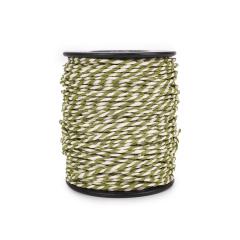 Κορδόνι χάρτινο δίχρωμοιβουάρ λαδί 1-2mm50μ