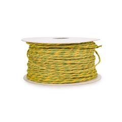 Κορδόνι χάρτινο δίχρωμο κίτρινο πράσινο 1-2mm50μ