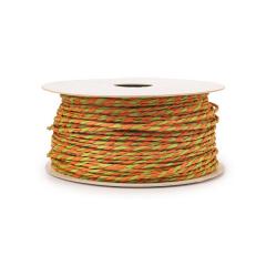 Κορδόνι χάρτινο δίχρωμο πορτοκαλί πράσινο 1-2mm50μ